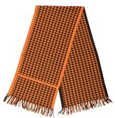 Hermes Cashmere Houndstooth Scarf