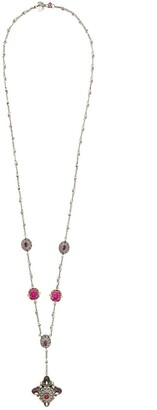 Jewelled Bullet Pendant Necklace