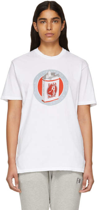Baja East White Budja Budz T-Shirt