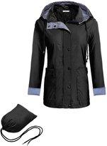 Meaneor Women's Lightweight Jacket Long Sleeve Hooded Windproof Rain Coat XXL