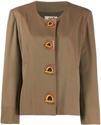 Hermes 1980s Iridescent Collarless Jacket
