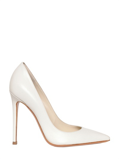 Gianvito Rossi 110mm Shiny Nappa Leather Pointy Pumps