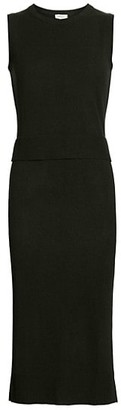 Akris Punto Wool Cashmere Sleeveless Knit Double Dress