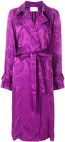 Peter Pilotto satin jacquard trench coat