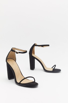 Nasty Gal Womens Strappy That You're Here Faux Suede Block Heels - Black