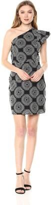 Sam Edelman Women's One Shoulder Tile Dress