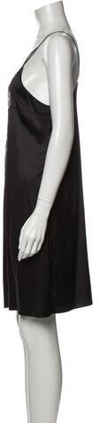 Thumbnail for your product : Jitrois Plunge Neckline Mini Dress Black