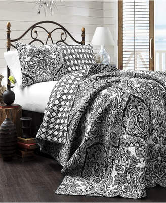 Lush Decor Aubree 3-Piece Reversible King Quilt Set