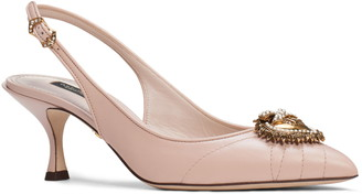 Dolce & Gabbana Devotion Pointed Toe Slingback Pump