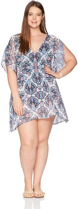 Becca Etc Women's Plus Size Naples Chiffon Tunic