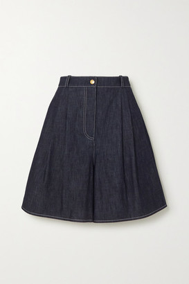 Emilia Wickstead Roger Denim Shorts - Blue