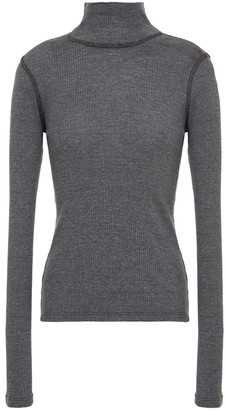 James Perse Ribbed Cotton-blend Turtleneck Sweater