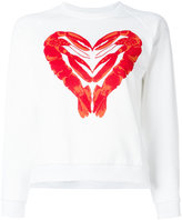 Peter Jensen lobster heart print sweatshirt - women - Cotton - XS