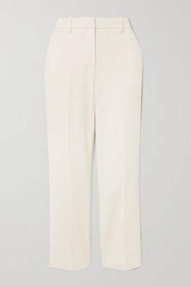 Victoria Victoria Beckham Cropped Crepe Flared Pants - Ecru