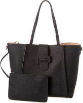 Tod's T Logo Double Leather Tote