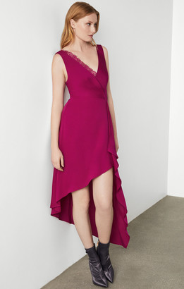 BCBGMAXAZRIA Lace Trim Dress
