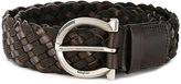 Salvatore Ferragamo woven buckle belt - men - Leather/Polyamide - 100