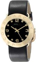Marc Jacobs Marc by Women's MBM1154 Amy Gold-Tone Stainless Steel Watch with Leather Band