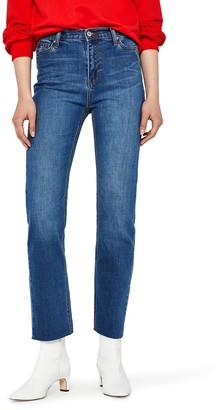 Find. Women's Straight Leg High Waist Cropped Jeans