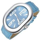 Haurex Turquoise Ricurvo Stainless Steel Date Watch