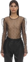 Philosophy di Lorenzo Serafini Flocked Sheer Tulle Top