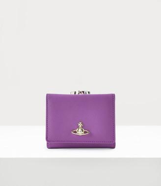 Vivienne Westwood Victoria Small Frame Wallet Purple