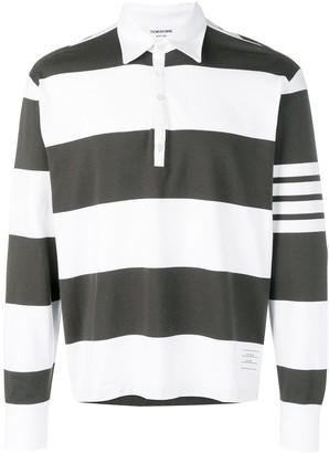 Thom Browne 4-Bar striped polo shirt