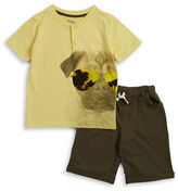 Nannette Boys 2-7 Two-Piece Dog-Print Tee and Shorts Set