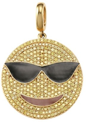 Judith Leiber 14K Goldplated Sterling Silver & Cubic Zirconia Cool Daddy Emoji Charm