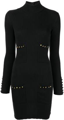 Chanel Pre-Owned high neck ribbed knitted dress