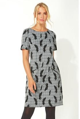 M&Co Roman Originals feather checked smart shift dress