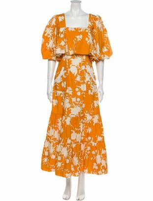 Johanna Ortiz Listen To Your Heart Long Dress Orange