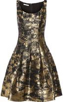 Oscar de la Renta Metallic Jacquard Dress - Gold
