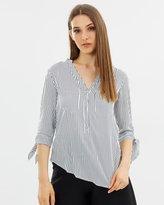 Oasis Tie Sleeve Stripe Shirt