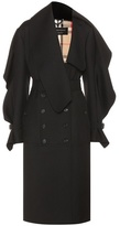 Burberry Asymmetric wool-twill coat