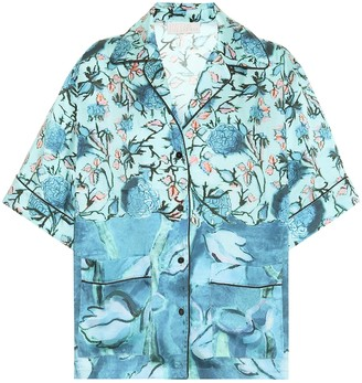Peter Pilotto Floral twill shirt