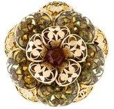 Chanel Glass & Enamel Floral Brooch