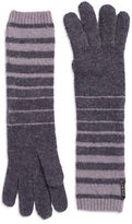 Lauren Ralph Lauren Striped Cuff Knit Wool-Blend Gloves