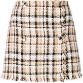MSGM woven check skirt