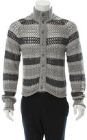 Dolce & Gabbana Open Knit Mock Neck Cardigan