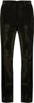 Bottega Veneta Loose-fit brushed-velvet trousers