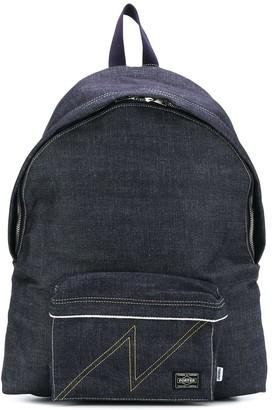 Neighborhood Denim Zipped Backpack