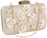 Jubileens Womens Glitter Floral Rhinestone Beaded Evening Bags Wedding Clutch Purse