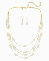 Charming charlie Deep Sea Illusion Necklace Set Only 3 left Name Qty Deep Sea Illusion Necklace Set 3 // Only 3 left in Ivory!