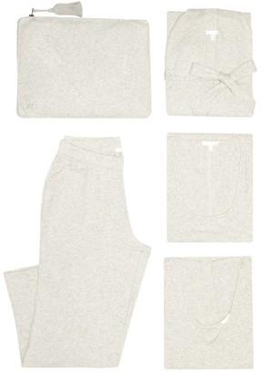 Skin - Heather Pyjama Travel Set - Womens - Light Grey