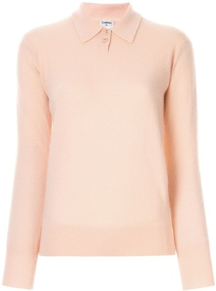Chanel Pre Owned Cashmere Buttoned Jumper