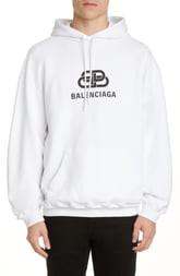 Balenciaga BB Logo Graphic Hoodie