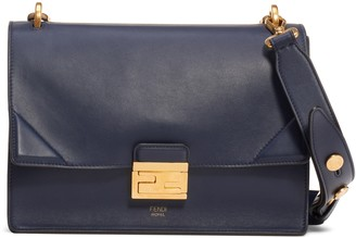 Fendi Medium Kan U Leather Shoulder Bag