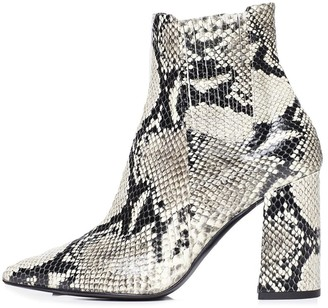 Tabitha Simmons Noa Boot in Roccia Embossed Python