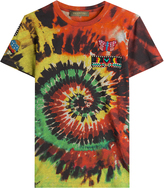 Valentino Tie Dye Printed Cotton T-Shirt with Embellishment